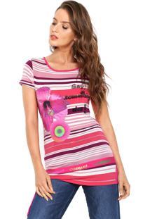 Camiseta Desigual Betty Rosa