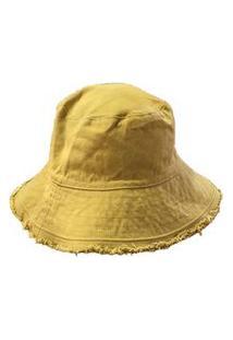 Chapéu Bucket Fendhi C/ Barra Desfiada Tam U