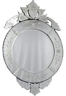 Espelho Veneziano Redondo 100X66Cm