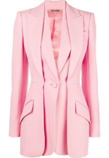 Alexander Mcqueen Blazer Com Camadas - Rosa