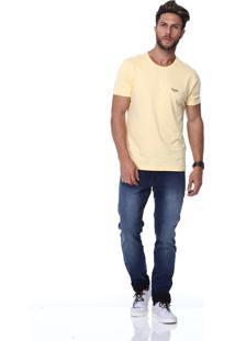Camiseta King&Joe Estampada Amarela