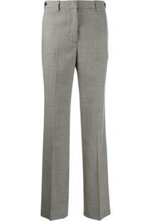 Msgm Calça Pantalona Com Padronagem Xadrez - Preto