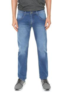 Calça Jeans Ride Skateboard Slim Estonada Azul
