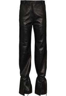 Loewe High-Waist Flared Trousers - Preto