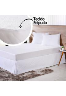 Capa Protetora De Travesseiro Bebê 50Cm X 70Cm Impermeável Branco - Bene Casa