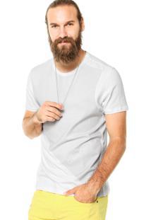 Camiseta Calvin Klein Jeans Estampa Com Logo Branca
