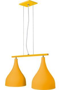 Pendente 6040 Grande 2 Lâmpadas Amarelo Bivolt Pantoja&Carmona