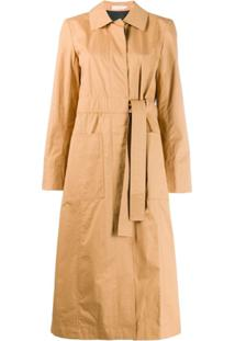 Tory Burch Trench Coat Com Cinto - Neutro