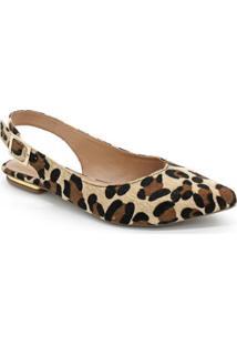 Sapatilha Violanta Troy Leopardo - Feminino-Onça