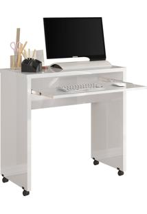 Escrivaninha Jb 6066 Luxo Branco Móveis Jb Bechara