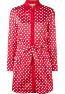 Moschino Polka Dots Shirt Dress - Vermelho