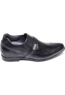 Sapato Masculino Social Em Couro Ferracini Preto