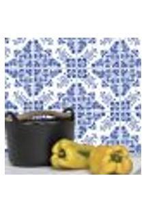 Adesivo De Azulejo Azul Alva 15X15 Cm Com 18Un