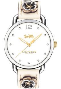 b510e3be29f Relógio Digital Bege Couro feminino