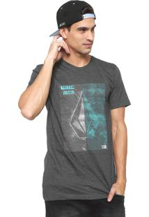 Camiseta Volcom Line Tone Grafite