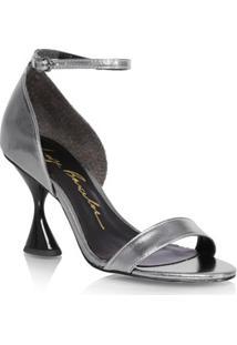 Sandália Metalizada Chumbo