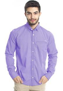 Camisa Tony Menswear Xadrez Lilás