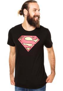 Camiseta Fashion Comics Super-Man Preta