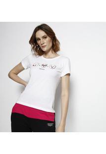 "Camiseta ""Coke Jeans"" & Ursos - Branca & Preta - Coccoca-Cola"