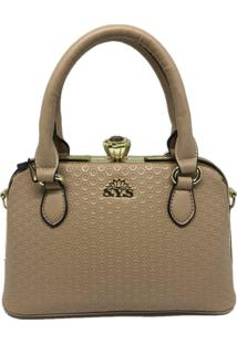 Bolsa Pequena Casual Importada Transversal Sys Fashion 8534 Bege