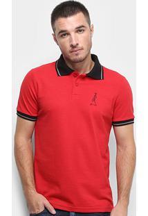 Camisa Polo Derek Ho Friso Caveira Masculina - Masculino-Vermelho