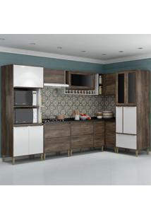 Cozinha Compacta C/Tampo Allure04 – Fellicci - Naturalle / Branco