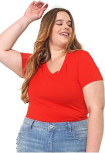 Blusa Lnd Lunender Mais Mulher Plus Lisa Vermelha