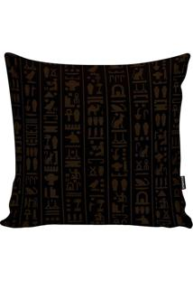 Capa De Almofada Egyptian Code Black- Preta & Marromstm Home