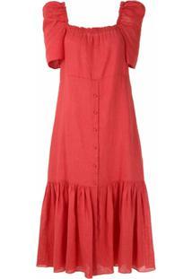 Clube Bossa Vestido Midi Zelana - Rojo