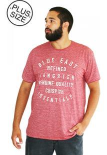 Camiseta Plus Size Blue East Vermelha