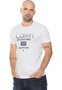 Camiseta Calvin Klein Jeans Degradê Branca