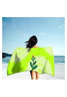 Toalha De Praia / Banho Flor Do Deserto Único