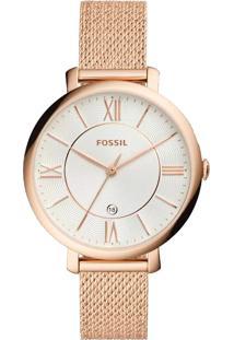 7d532e46fcd Eclock. Relógio Feminino Aço Analógico Technos Fossil ...