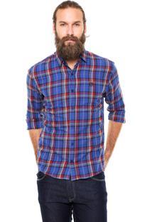 Camisa Polo Wear Xadrez Azul