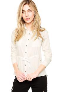 Camisa Manga Longa Lança Perfume Botões De Pressão Off-White