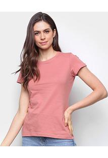 Camiseta Malwee Baby Look Antivirais Feminina - Feminino-Rosa
