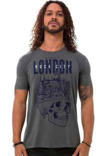 Camiseta Masculina London Rock City Cinza B