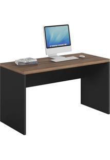 Mesa De Escritório Studio Preta 136 Cm