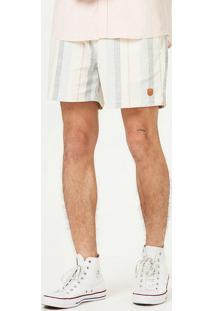Shorts Masculino Em Tecido De Algodão Estampado
