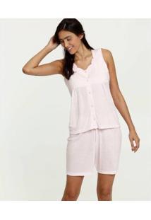 Pijama Bordado Marisa Feminino - Feminino-Rosa Claro
