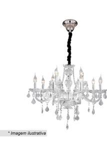 Lustre Maria Thereza- Inox & Cristal- 25X58X58Cmhevvy