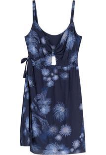 Vestido Azul Marinho Curto Corais