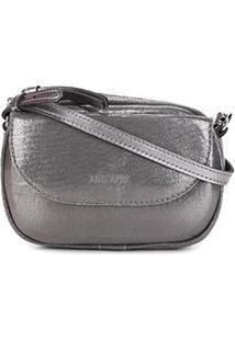Bolsa Anacapri Pequena Tecido Soft Lux - Feminino-Prata