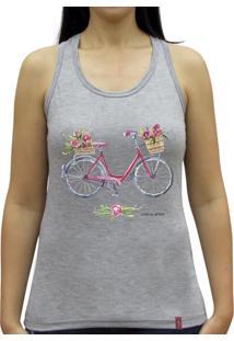 Regata Casual Sport Bike Flores Cinza