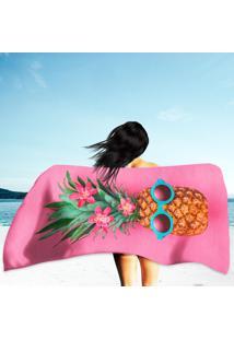 Toalha De Praia / Banho Pineapple Fruit Hipster