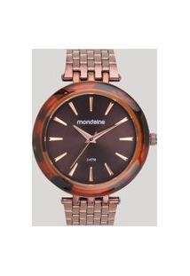 Relógio Analógico Mondaine Feminino - 76559Lpmvme5 Marrom