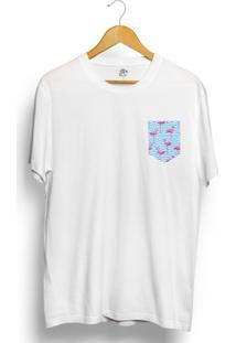 Camiseta Bsc Flamingo Pocket - Masculino-Branco