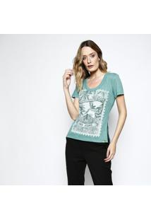 Camiseta Mescla ''Tropicalmente'' - Verde - Coca-Colcoca-Cola