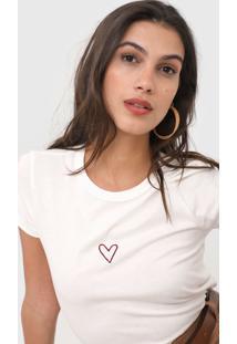 Camiseta Dzarm Bordado Off-White - Kanui