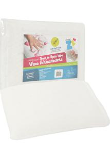 Travesseiro Fibrasca Visco Antissufocante 30X40Cm Off-White